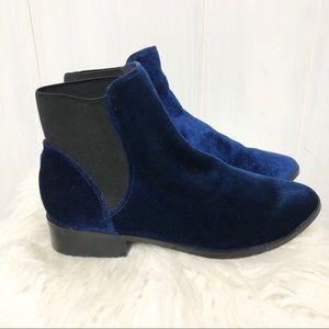 Aldo Blue Velvet Booties Size 8